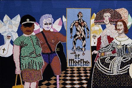 Robert Brain   Mardi Gras  2005, tapestry. 110x80cm. Photograph: Michael Wee