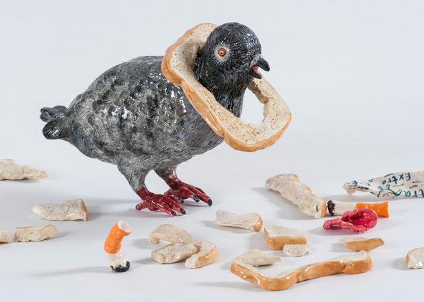 Mechelle Bounpraseuth,  Breadface  , 2016, ceramic, dimensions variable.  Image courtesy the artist.