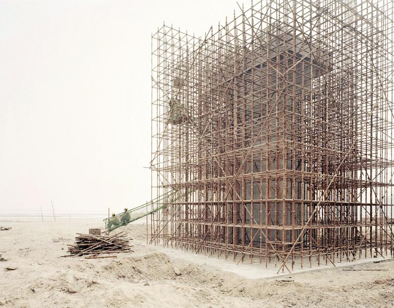 People Building High-speed Rail Bridge, Xiaxi, 2011