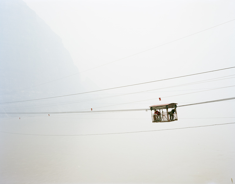 People in a Cable Car, Xiaxi, 2011