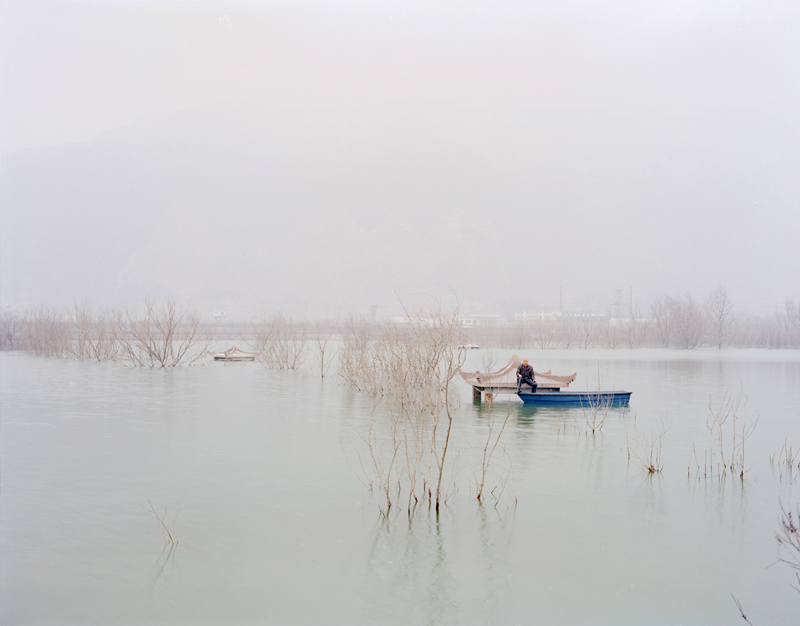 People Fishing on the Top of the Pavilion, Shanxi, 2011