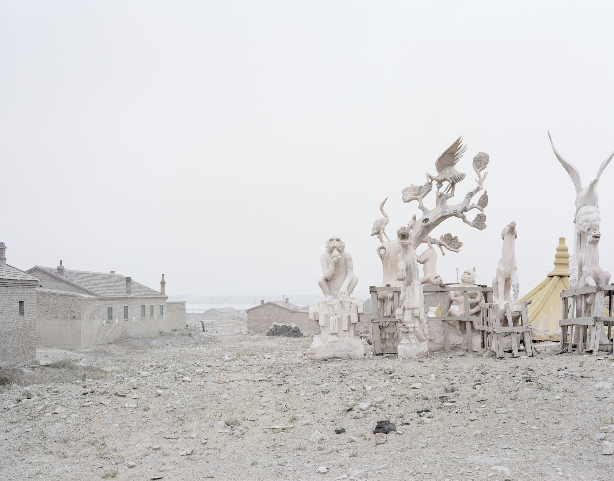 A Sculpture beside a Country, Inner Mongolia, 2011