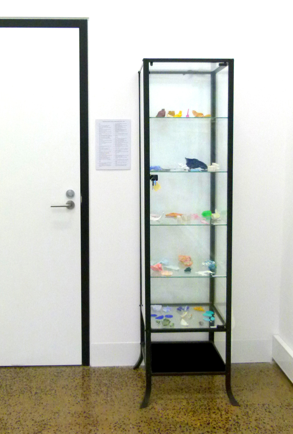 """""""Archaeology of practice: experimental objects 2010 - 2016"""".  42 objects, mixed media."""