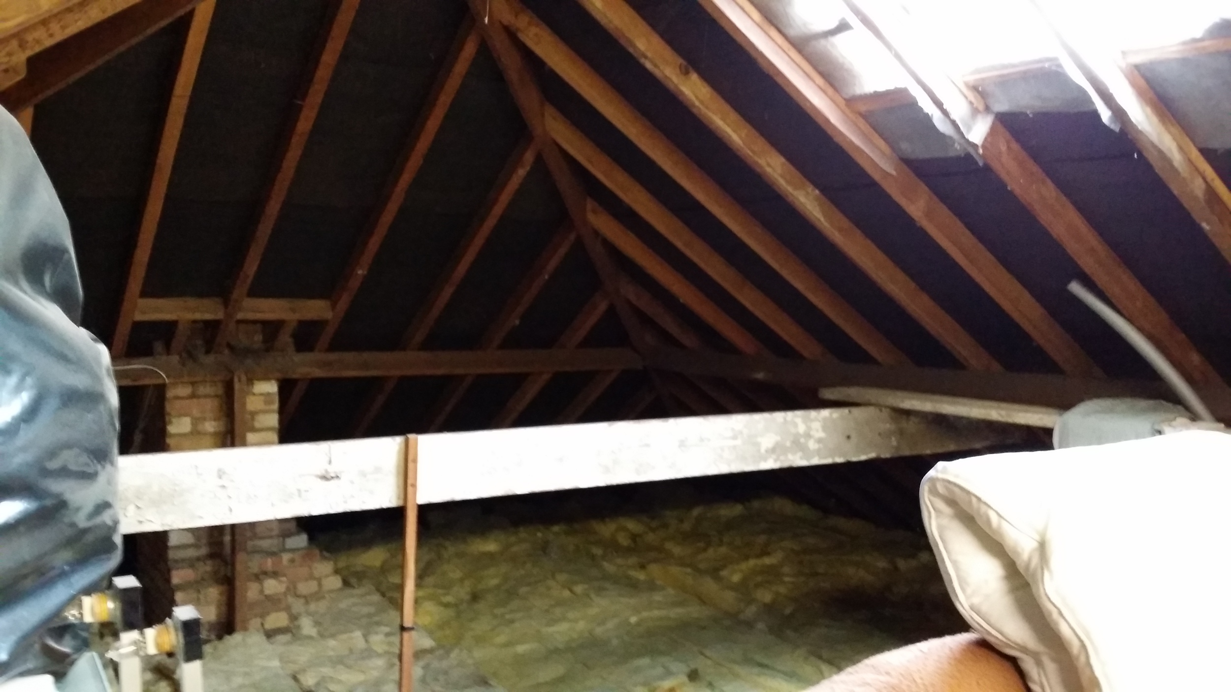 Pre Conversion - Loft Space - West & North Roof Slopes