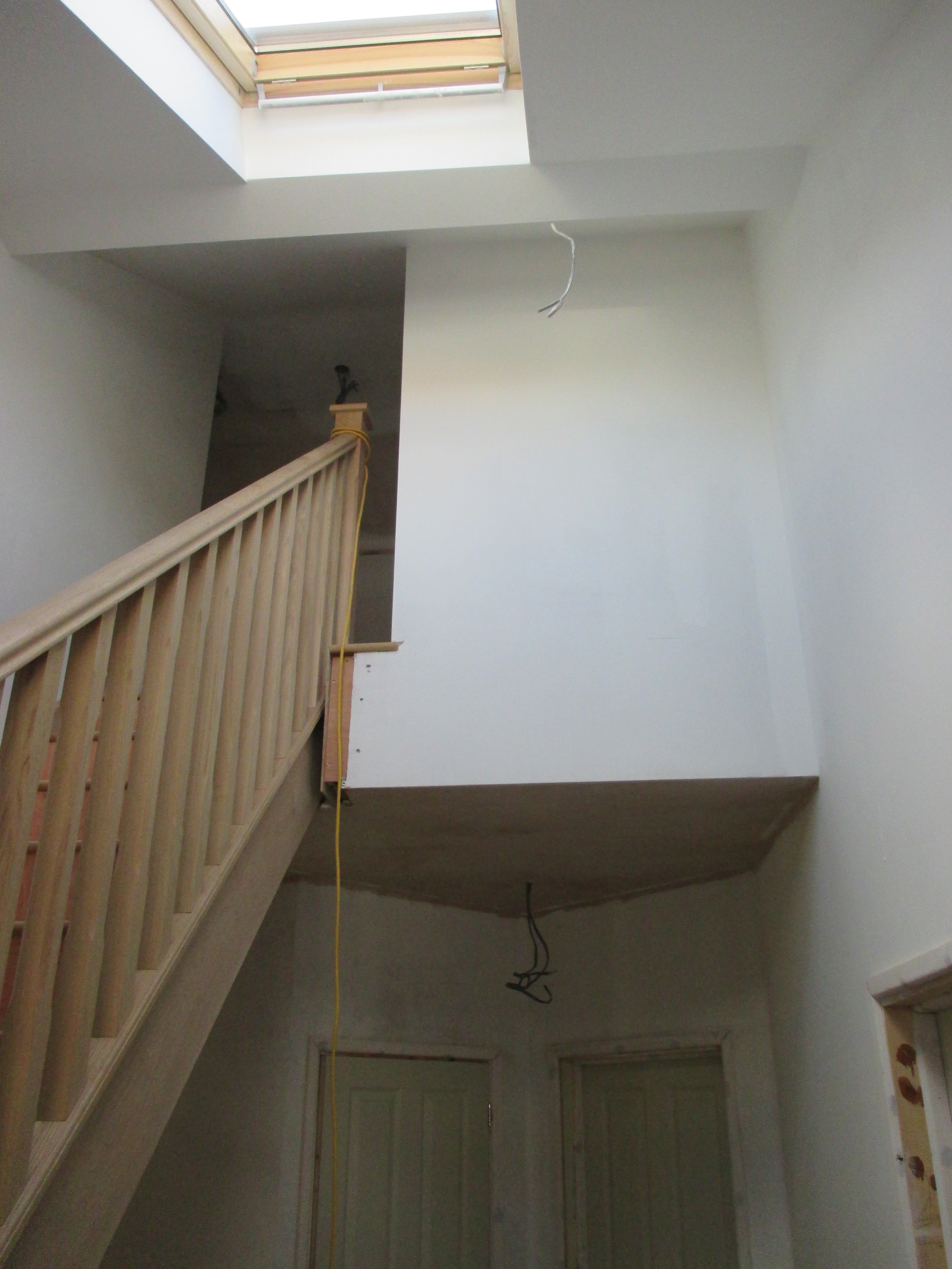 Conversion in Progress - New entrance hall and staircase.
