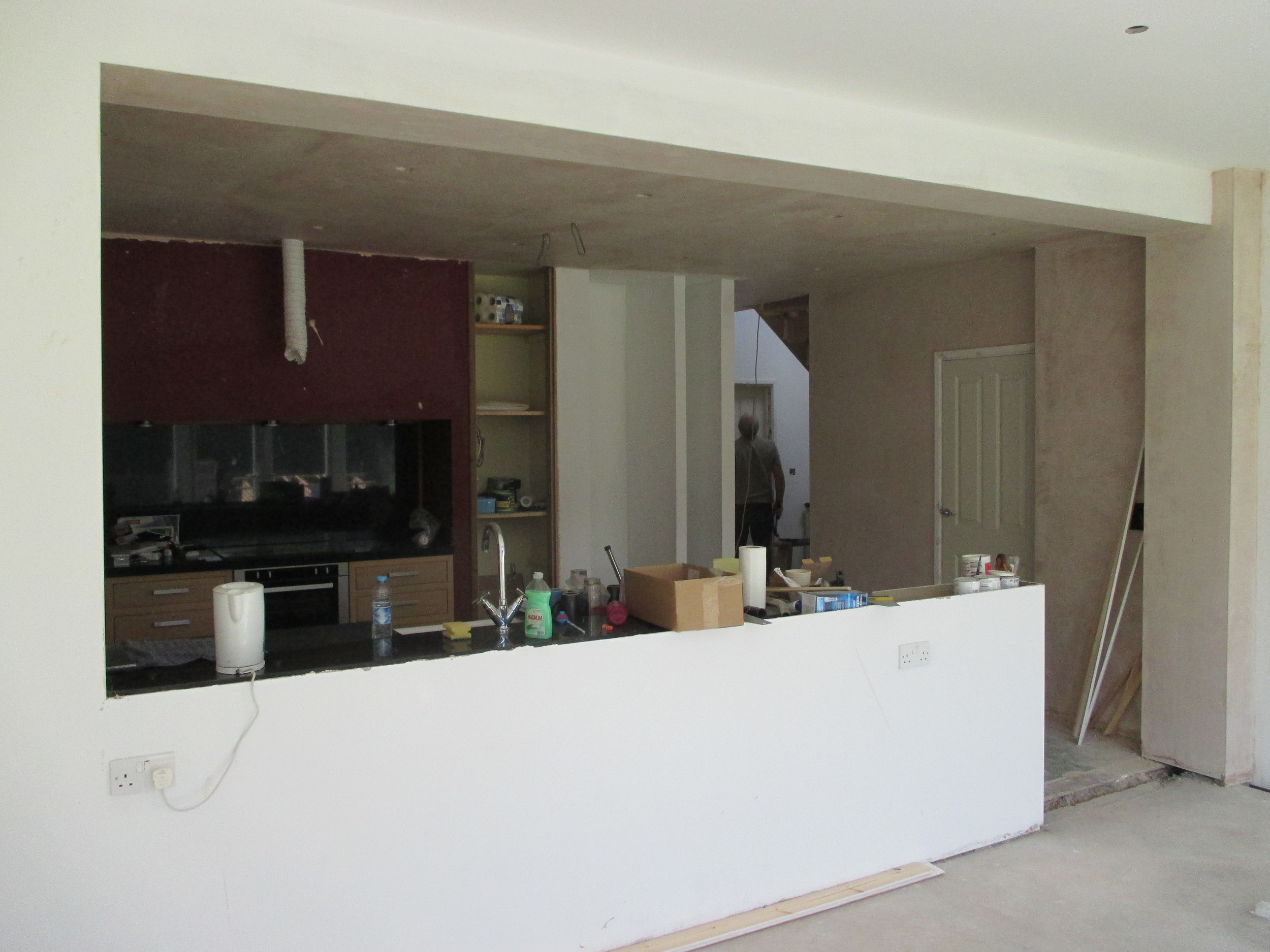 Conversion in Progress - New Breakfast / Garden Room into Kitchen and through to Entrance Hall.
