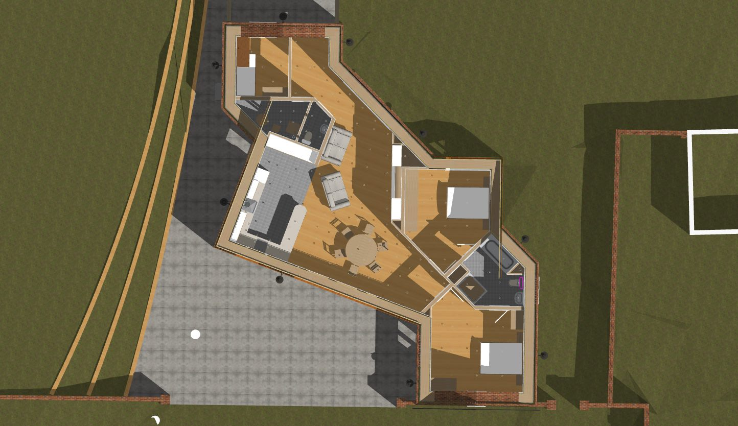 Site Ground Floor Plan of Eco Annexe