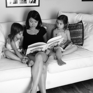 This is a photo from when my kids were very little! They loved reading then, and they still love reading now. I'm one lucky mom!
