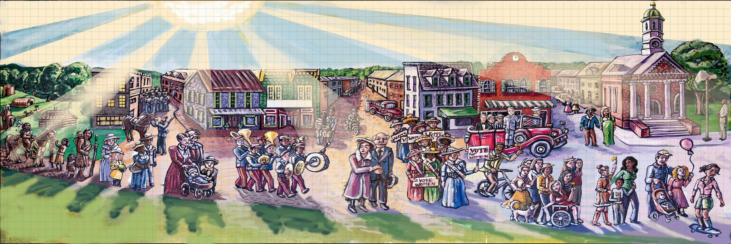 Leesburgh Historical Mural, Virgina 2015