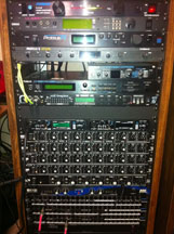 Rack mount mixers and patchbay