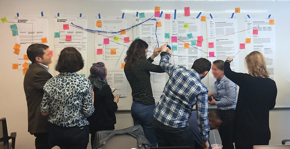 The iF and Foundation teams collaborated in large, fun, messy working sessions.
