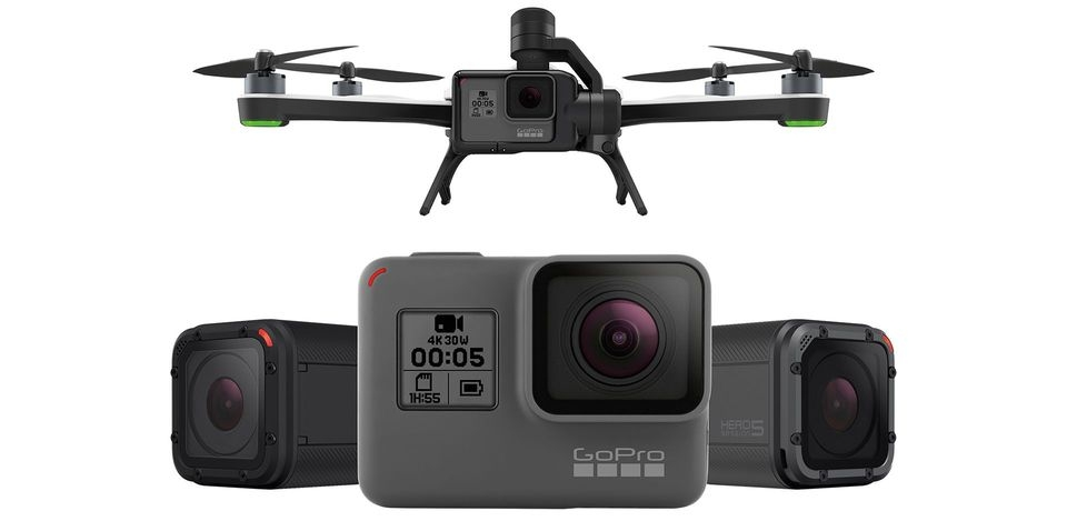 Karma Drone ($799) / Karma Drone + Session ($1099) / Karma Drone + Hero 5 ($1199)                                                    Session ($199)                   Hero Black 5 ($399)              Session 5 ($299)