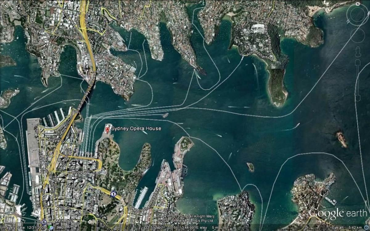 sydney harbour at 1:1250