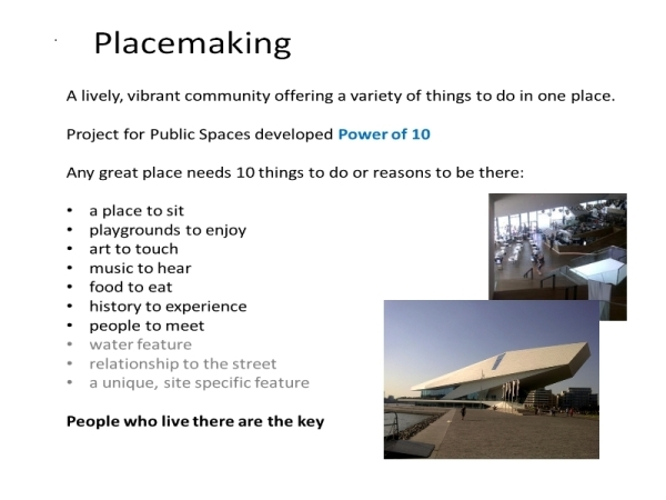 some placemaking principles