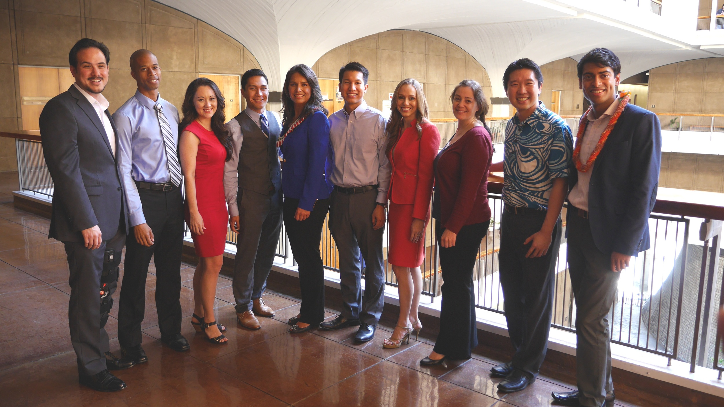 MAP President Steven Olikara, far right, at the launch of the Hawaii Future Caucus this past February with Fukumoto, third from the left.