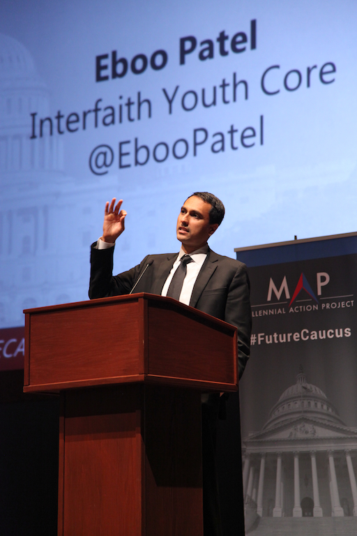 Eboo Patel of Interfaith Youth Core at the Congressional Summit on Next Generation Leadership.