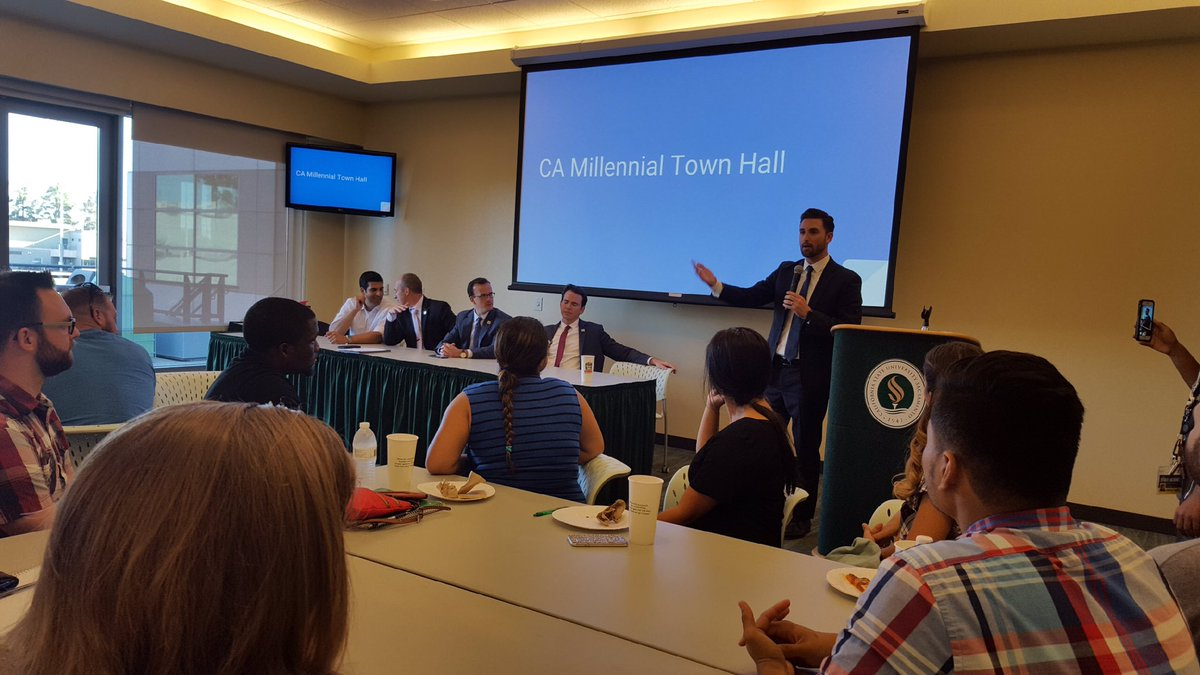 CA Millennial Caucus Co-Chair Asm. Ian Calderon, the first millennial elected to the Assembly, talked about his generation's focus on policy over partisanship.