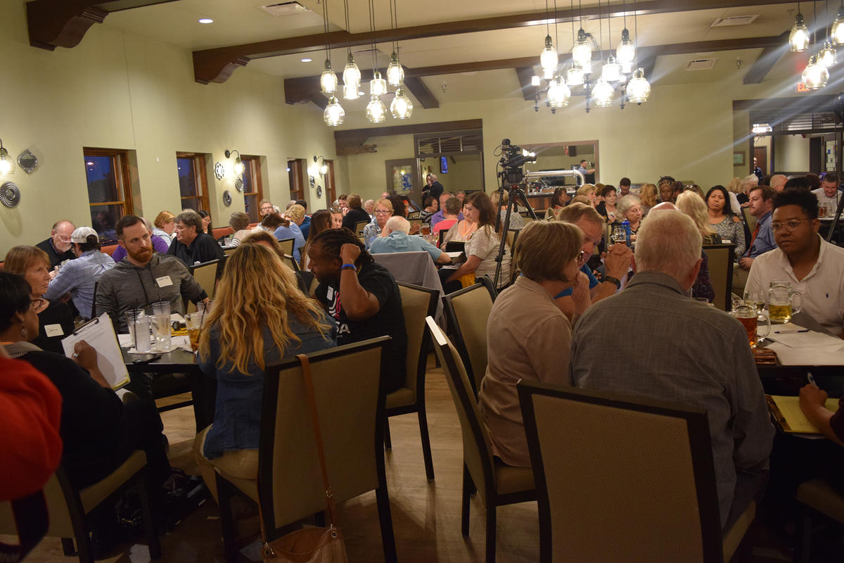 People from across the political spectrum attended the Across the Red & Blue Divide event that focused on criminal justice reform.