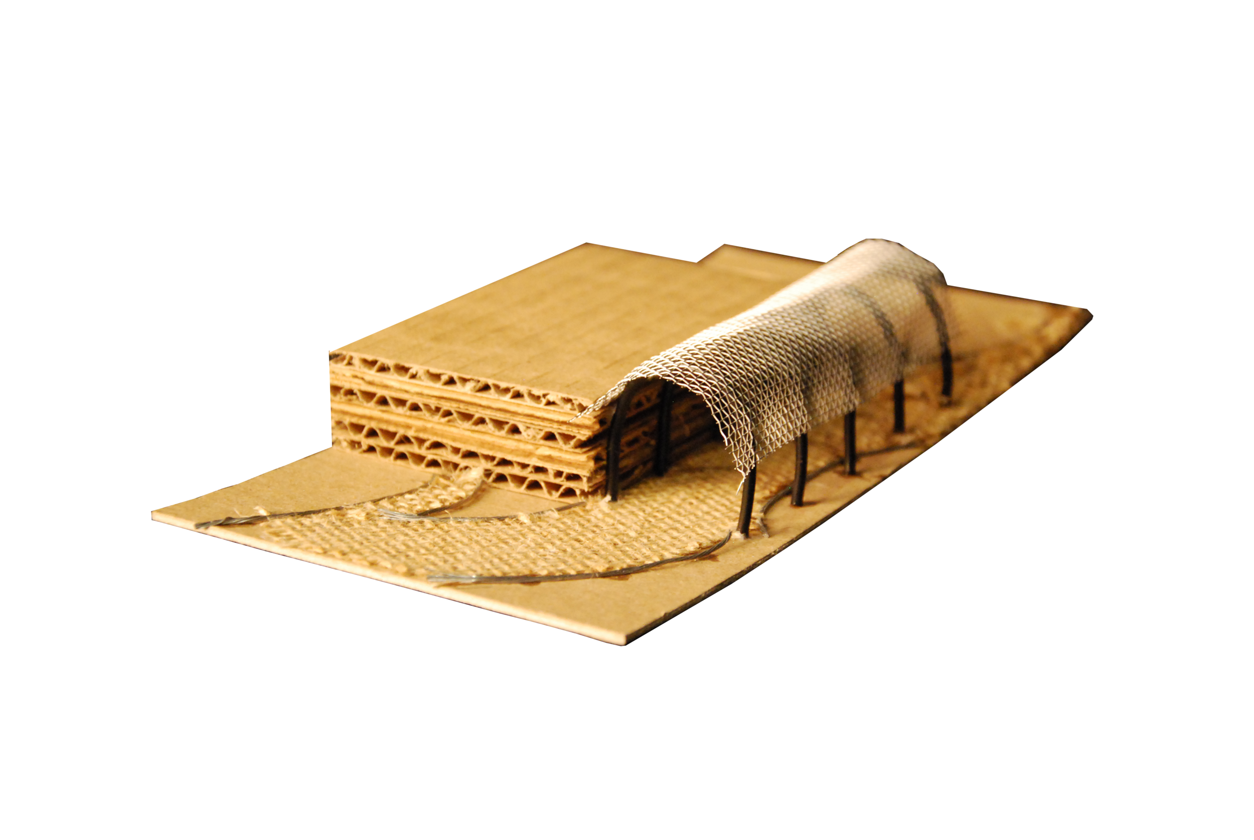 Study model of walkway coverings for the Ale Way Project