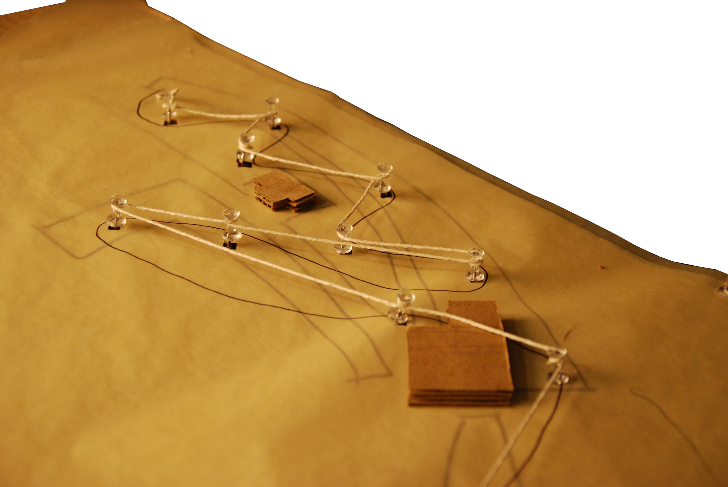 Concept Model of connecting points of interest along a pathway
