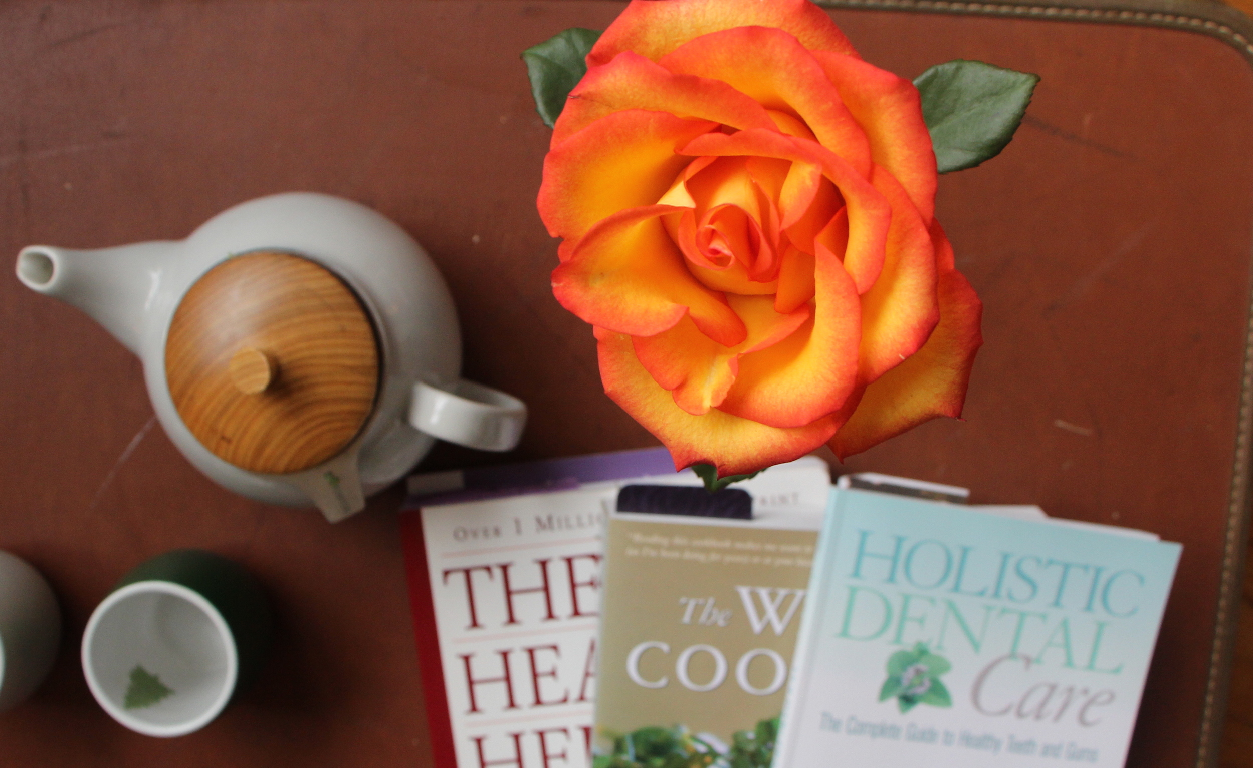 Tea, flowers and good reads.