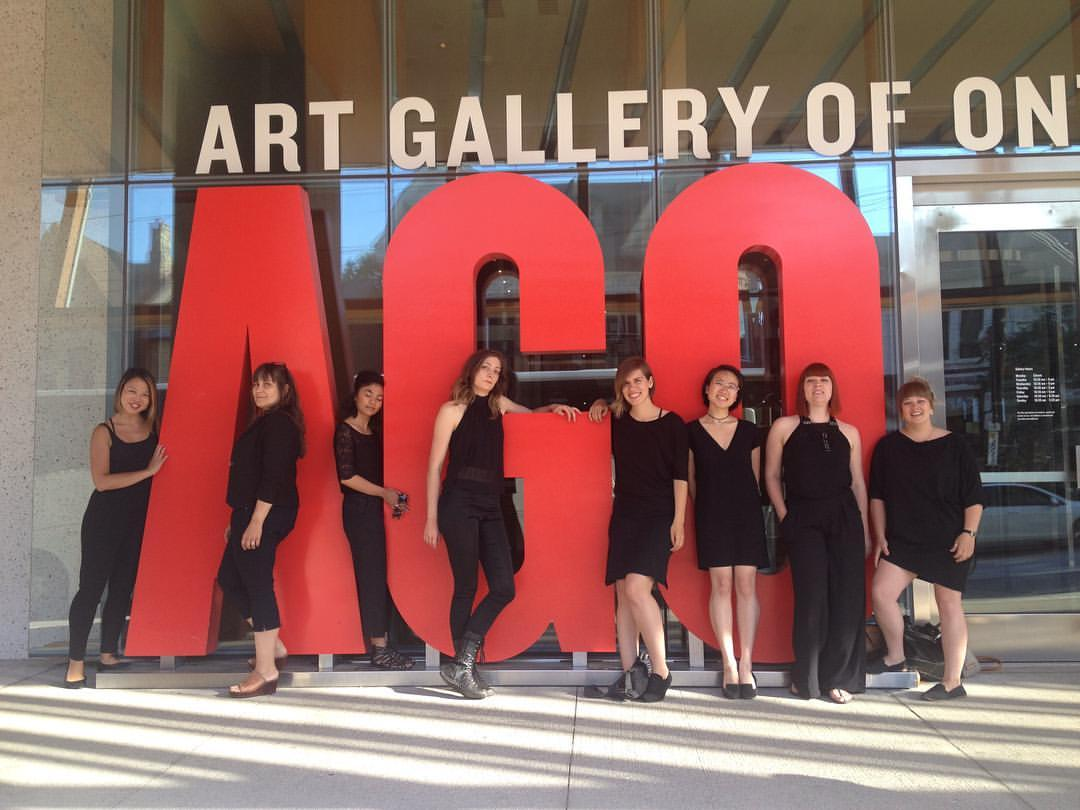 Photo taken during New Lineage's (Improvisational Choir) weekly residency at the Art Gallery of Ontario, in 2017.