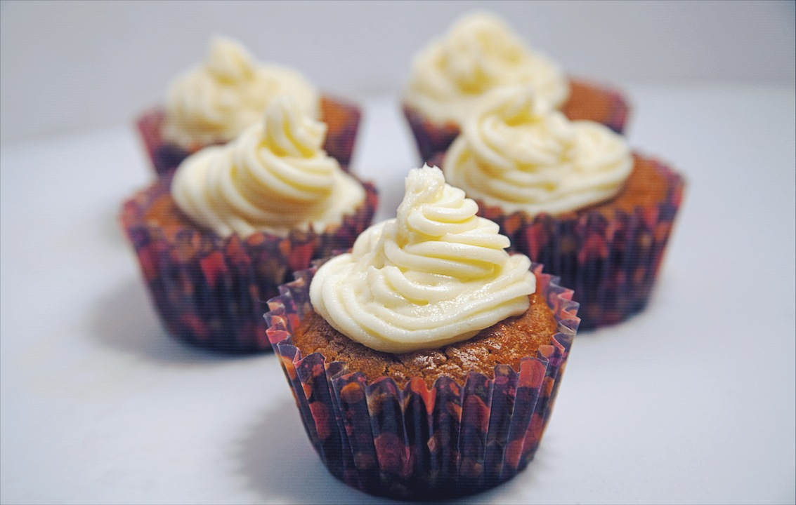 Carrot and Pumpkin Spice Cupcakes with Cream Cheese Frosting