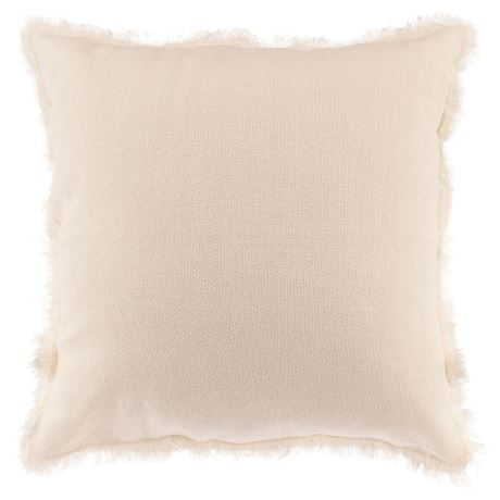 White Fringe Cushion I $7.50ea I Qty 2