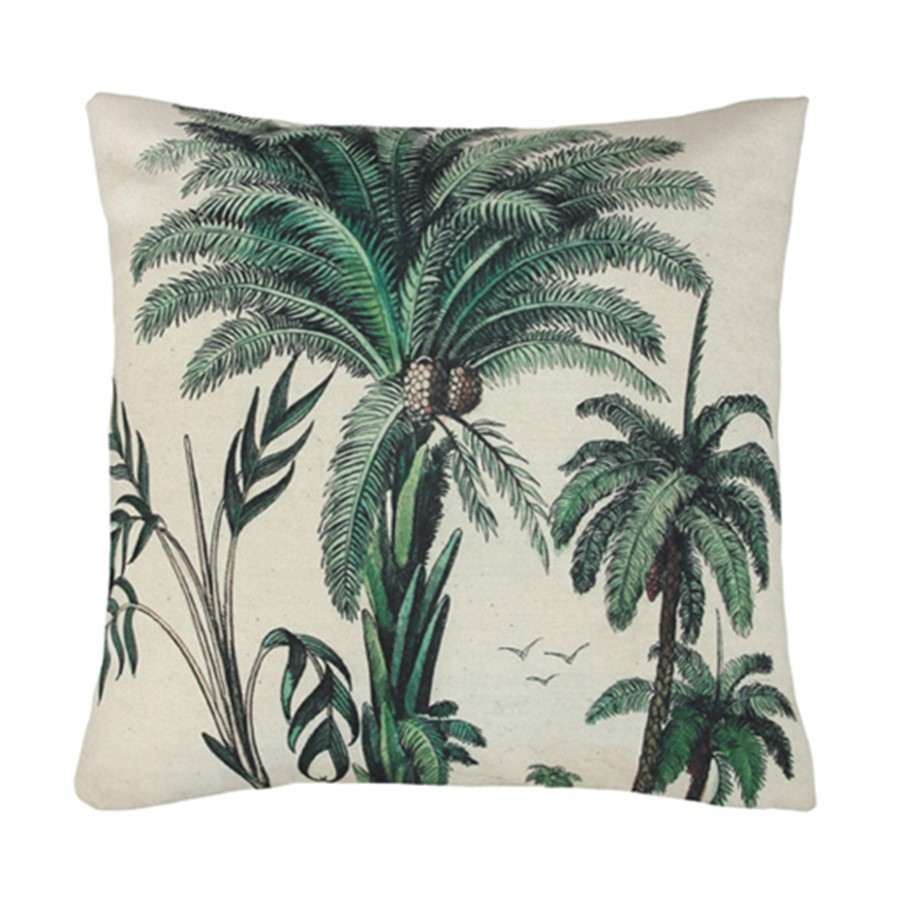 Printed Palm Tree Cushion | $10ea | Qty 2