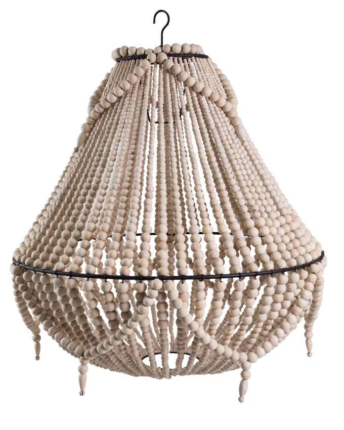 Natural Beaded Chandeliers | $60ea | Qty 2