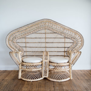 Double Peacock Chair | $220ea | Qty 1