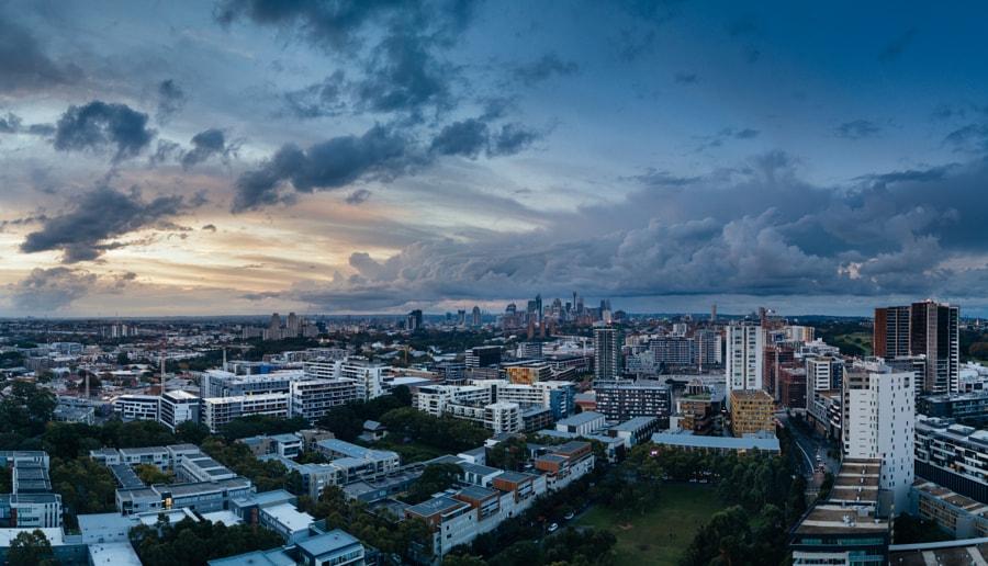 Sunset over Zetland, Sydney, Australia