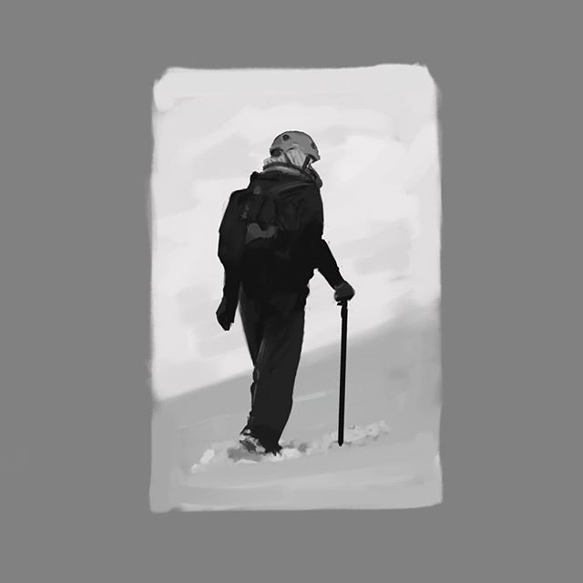 Snow walking gesture study. iPad Pro, Procreate.  #gesturedrawing #sketch #drawing #study #conceptart @procreate