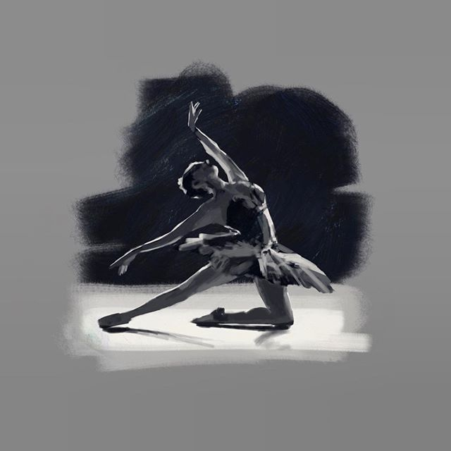 Ballet study. Procreate, iPad Pro, Apple Pencil.  #gesturedrawing #art #sketch #study #lifedrawing @procreate