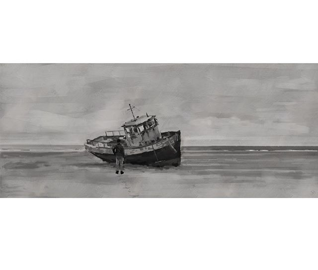 Film frame study. Photoshop, Wacom Intuos.  Good practice for tone and composition.  #filmframe #study #sketch #painting
