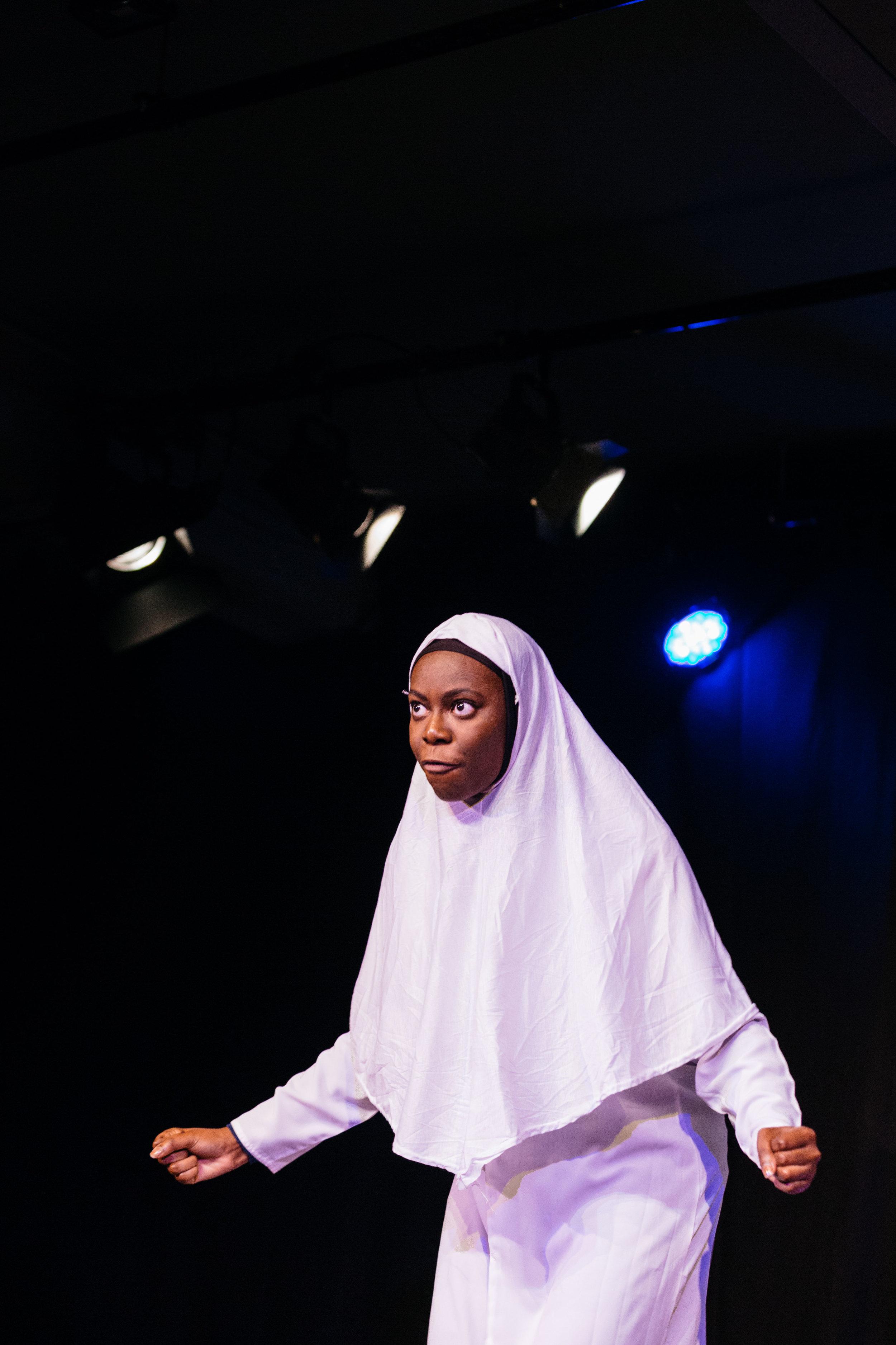 Michal Keyamo in Hijabi Monologues London directed by Milli Bhatia-93 ©helenmurray.jpg
