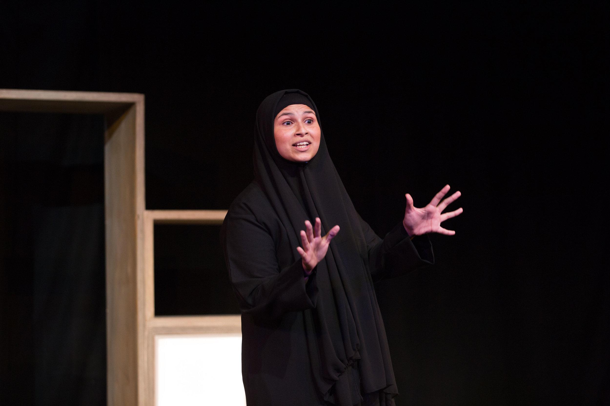 Zainab Hasan in Hijabi Monologues London directed by Milli Bhatia-238 ©helenmurray.jpg