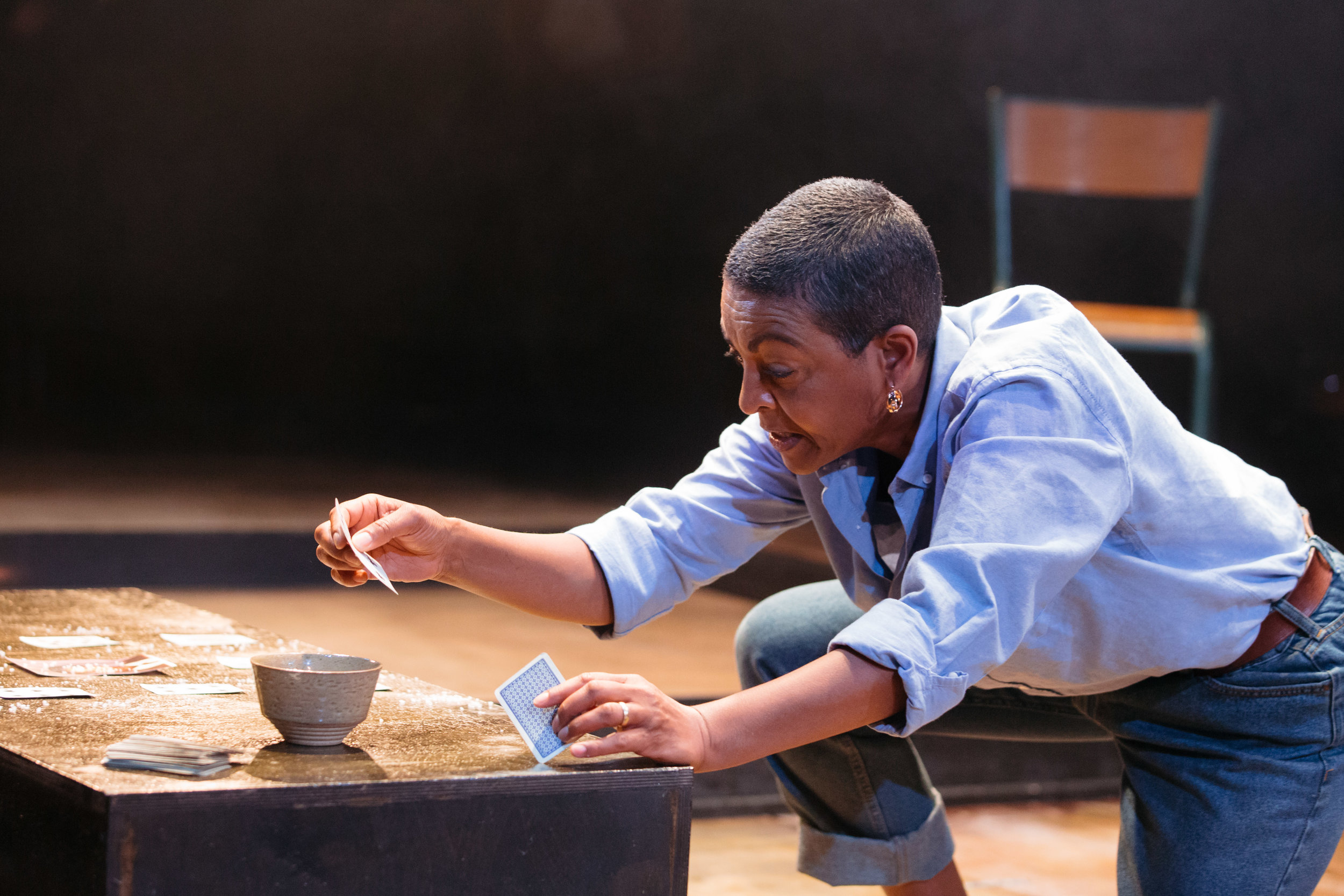 Adjoa Andoh in Leave Taking at the Bush Theatre © Helen Murray 2.jpg