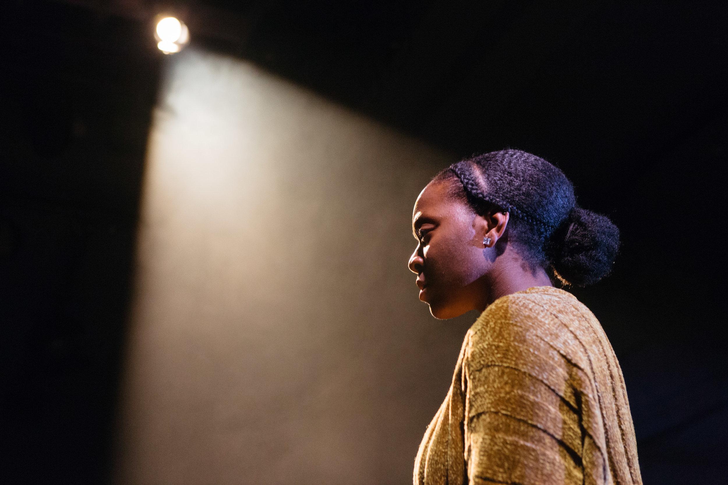 Nicholle Cherrie in Leave Taking at the Bush Theatre © Helen Murray 2.jpg