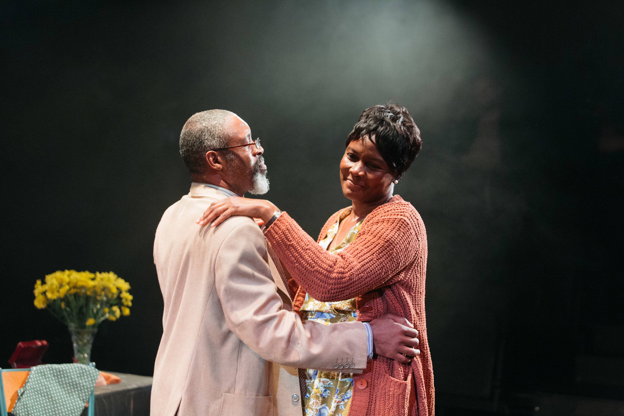 Wil Johnson and Sarah Niles in Leave Taking at the Bush Theatre © Helen Murray.jpg