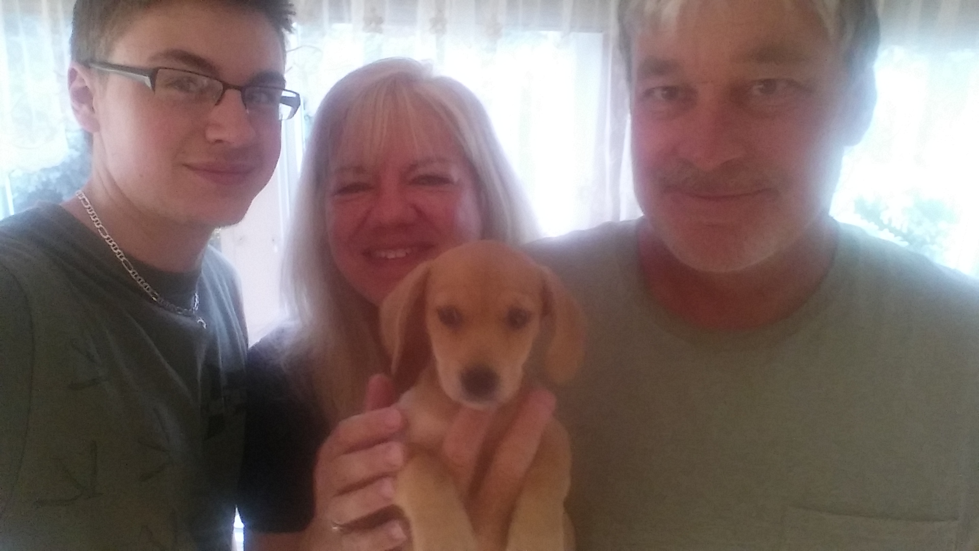 Blueberry (now Max) is the perfect fit for the Weaver family!