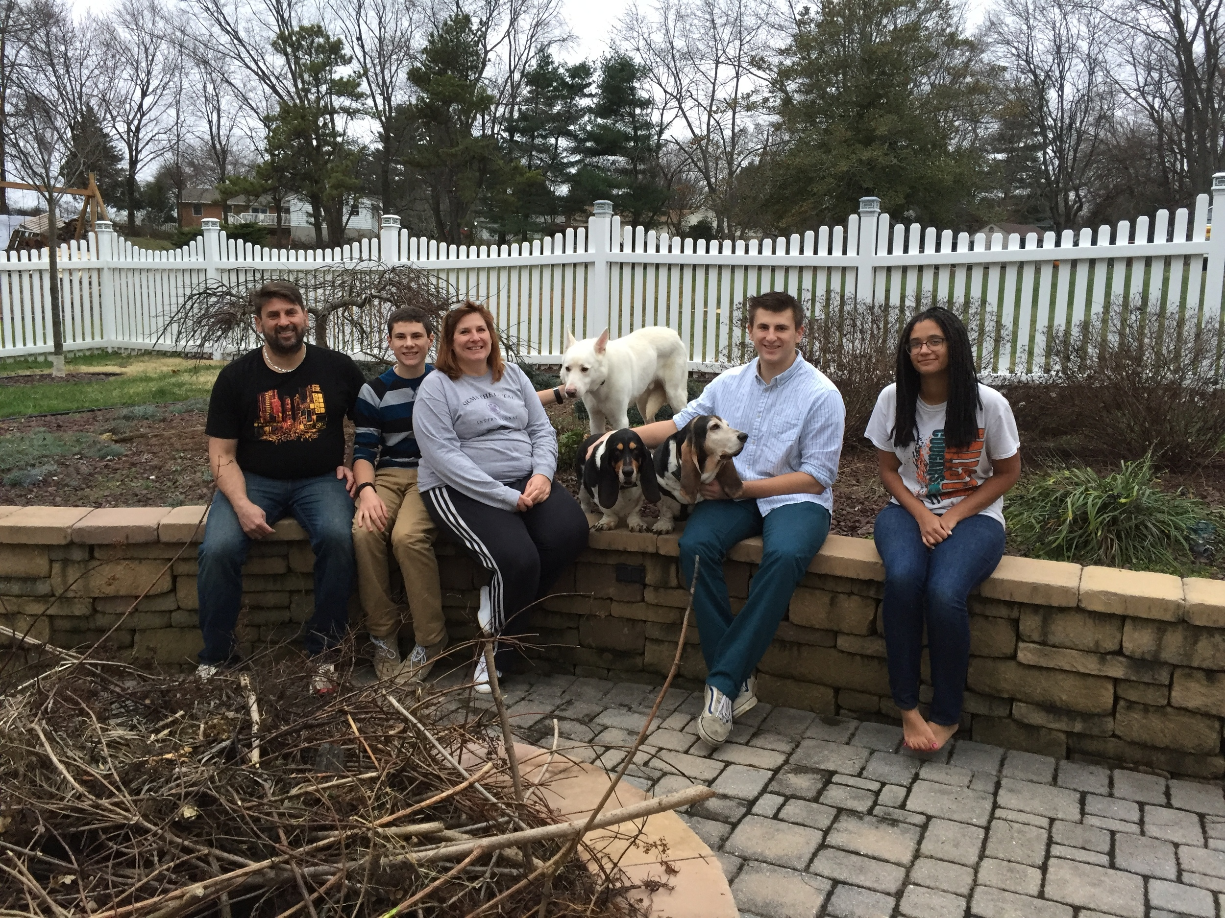 Henry, the white Shepherd, scored his happy furever after with the Yarworth family!