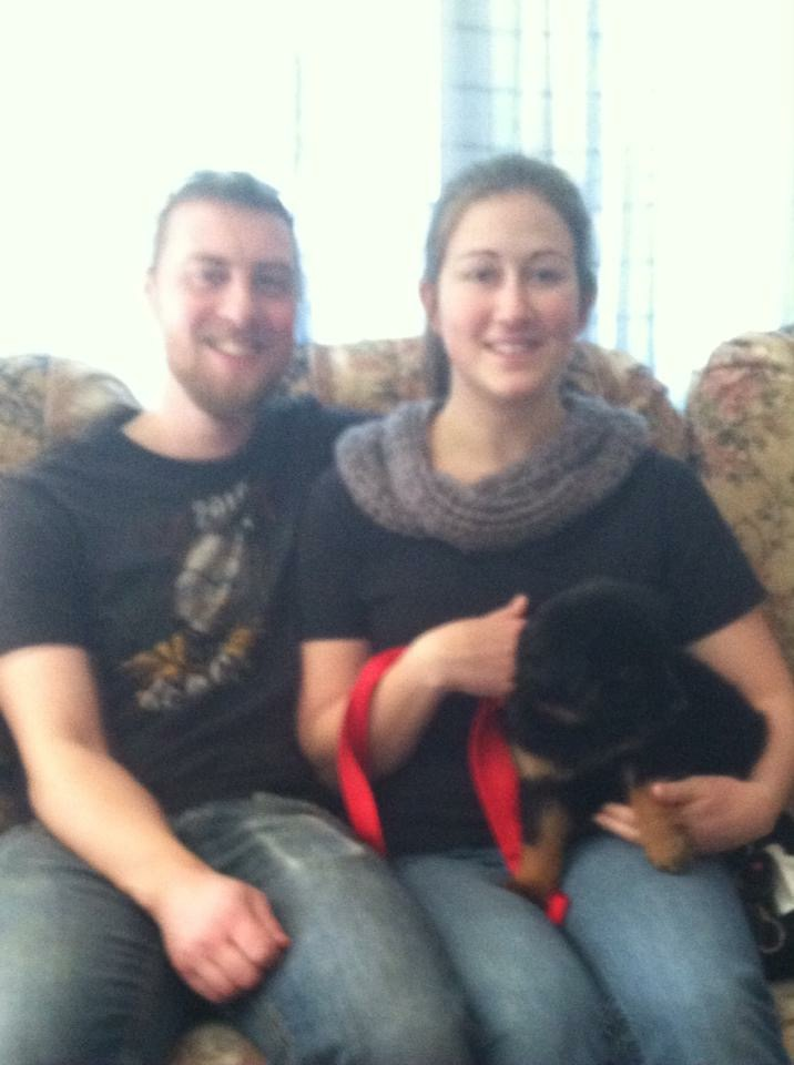 Nestle with his furever parents!