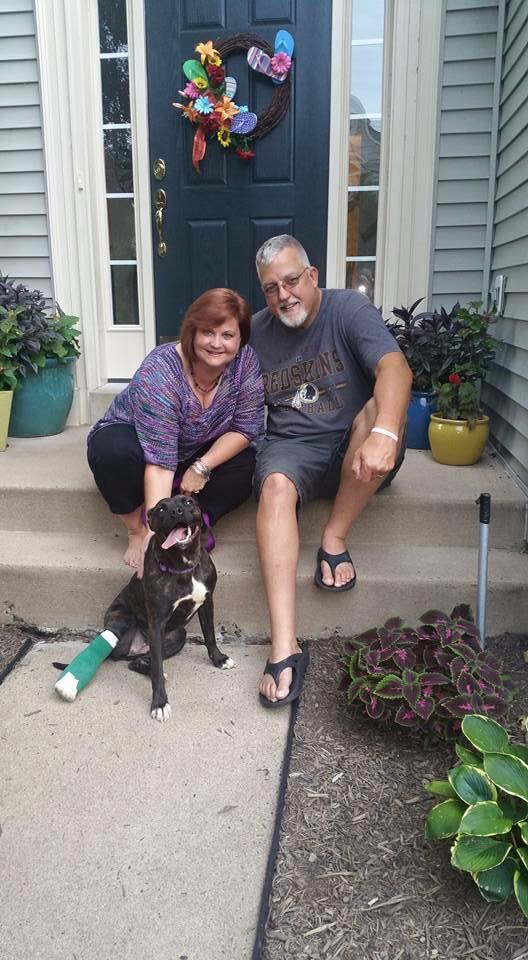 Despite a rough time, Sophie, found her furever family!