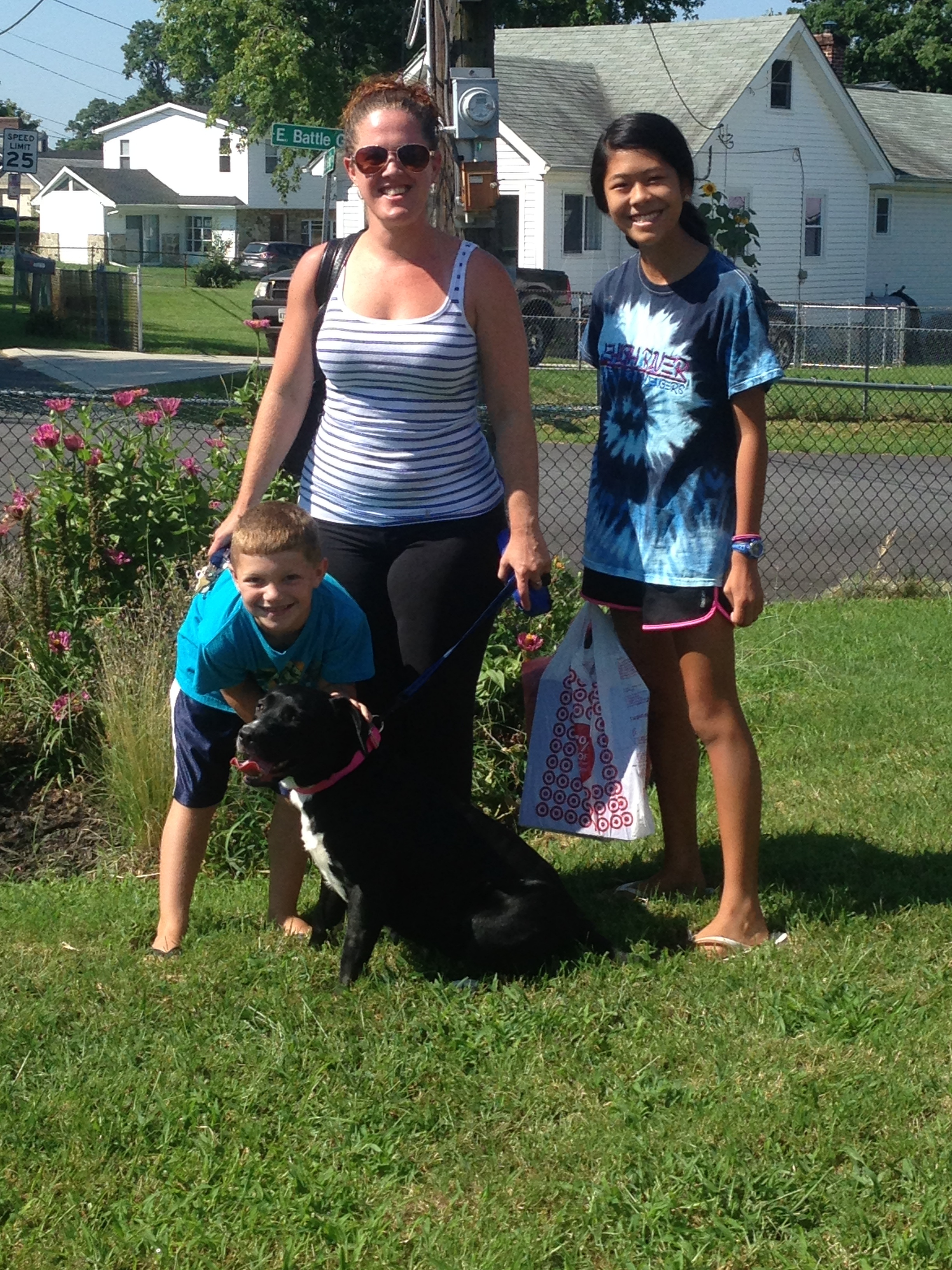 Betsy is now home with Courtney and her wonderful family!