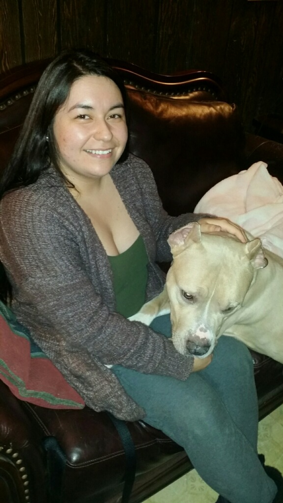Sweet Tonka was right in his new mom's lap!
