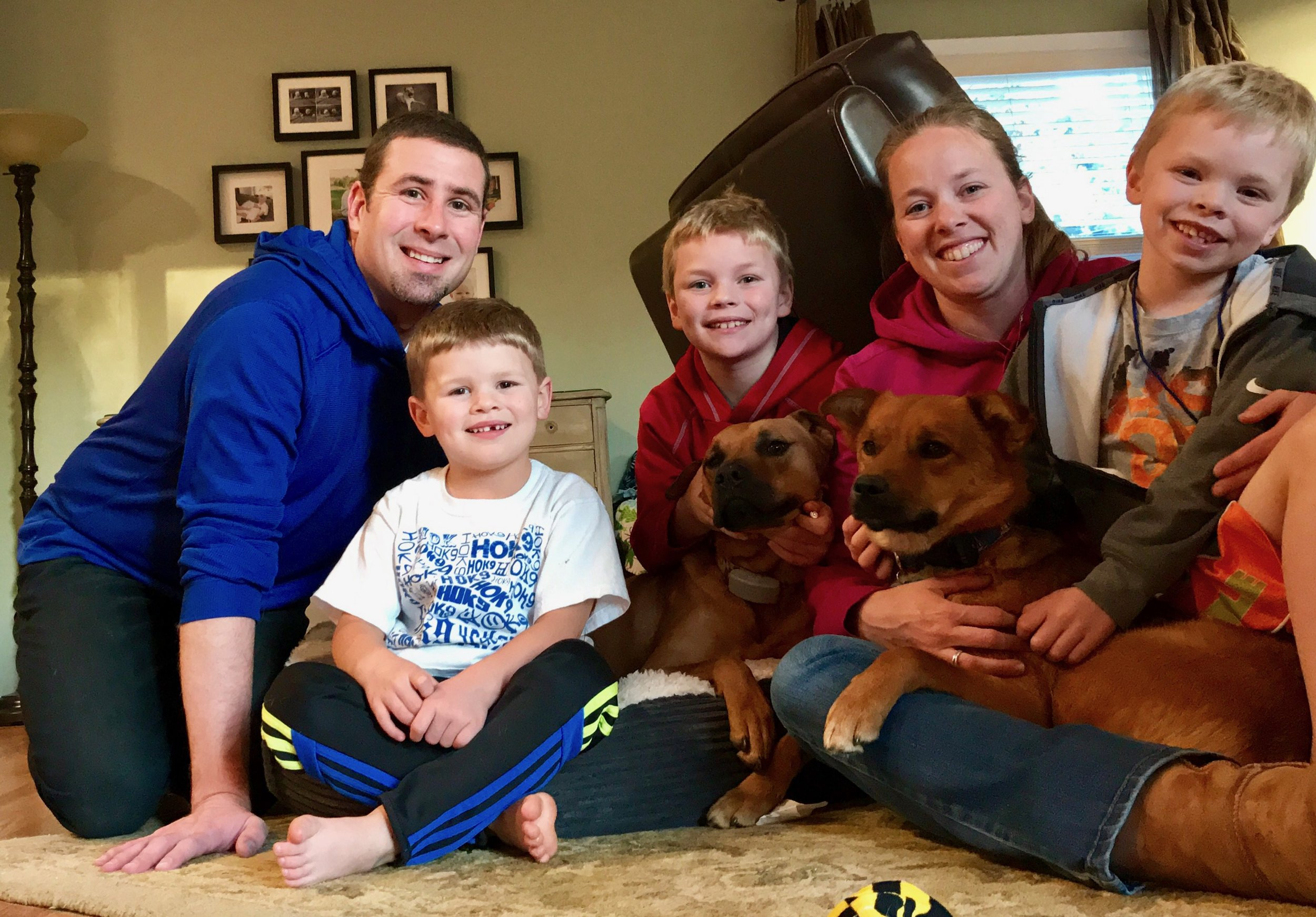 Look at all the love and fun Aiden (far right) is going to have in his home with the Merritt family!