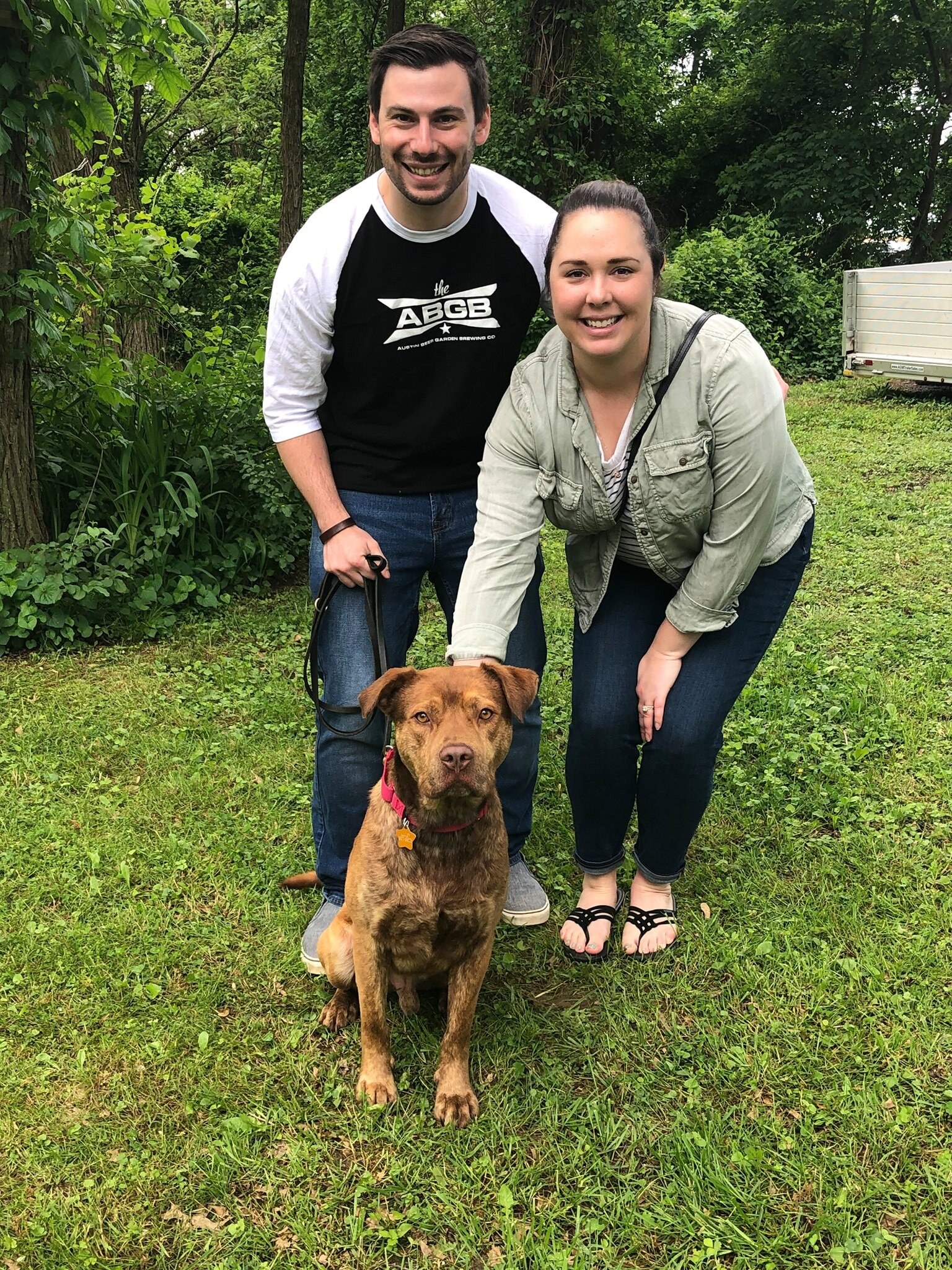 Hershey loves his new parents!