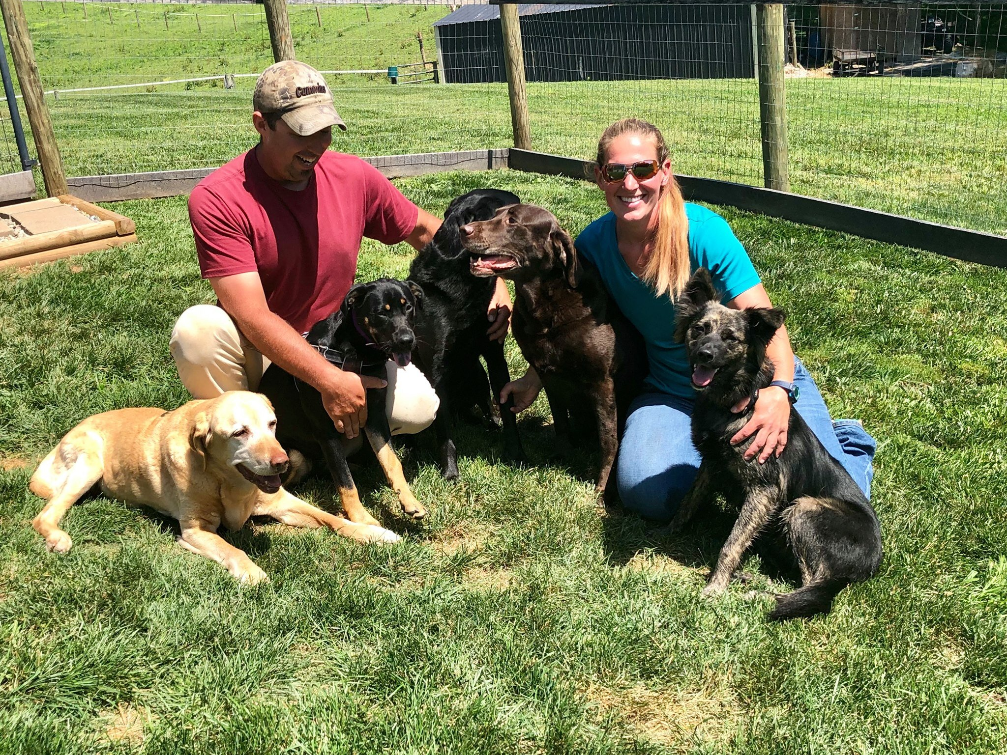 Riley (2nd from L) adores her new home!!