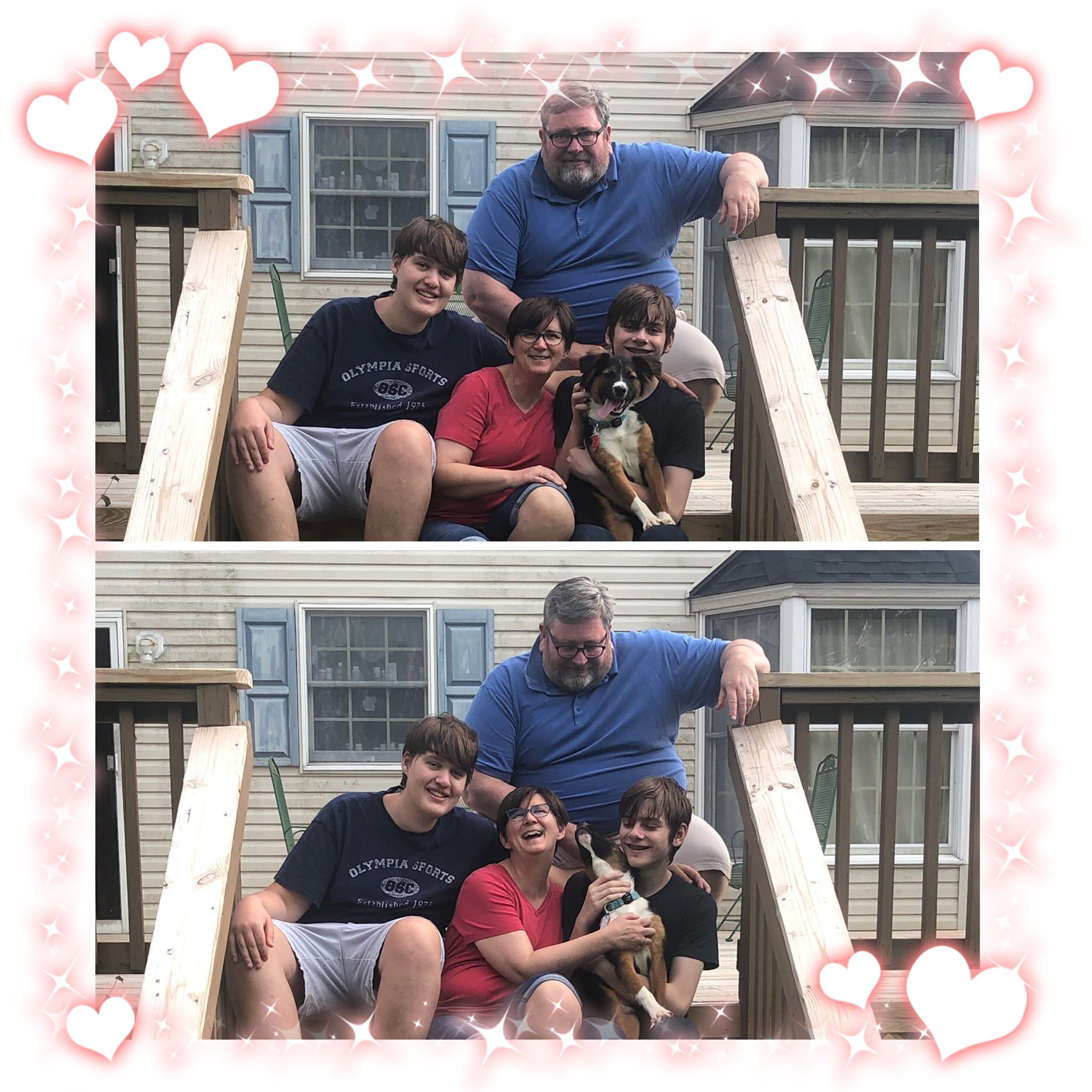 Crackerjack already adores his new family and huge yard!